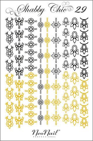 Трафарет для дизайна Shabby Chic 29 комбинированный