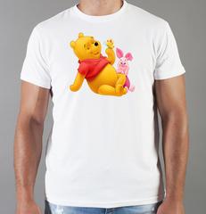 Футболка с принтом мультфильма Винни-Пух (Winnie the Pooh) белая 0015