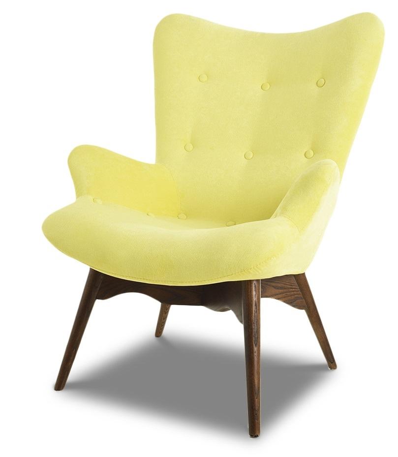 Кресло DC917 yellow-lemon и Банкетка DC917F yellow-lemon