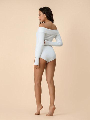 Женское боди белого цвета из вискозы - фото 4