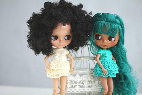 Платье вязаное для Блайз и Айси
