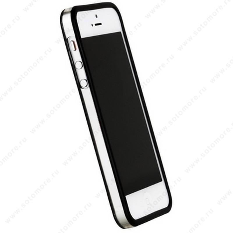 Бампер GRIFFIN для iPhone SE/ 5s/ 5C/ 5 черный с прозрачной полосой