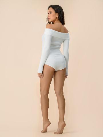 Женское боди белого цвета из вискозы - фото 3