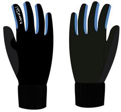 Детские Теплые лыжные перчатки Nordski Arctic Black-Blue