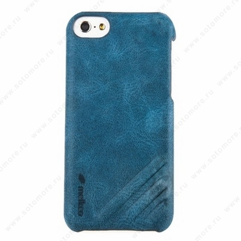 Накладка Melkco кожаная для iPhone 5C Leather Snap Cover Craft Limited Edition Prime Dotta (Classic Vintage Blue)