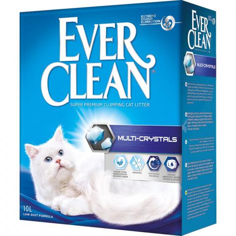 Ever Clean Multi Crystals комкующийся наполнитель с мультикристаллами д/кошек (10 кг)