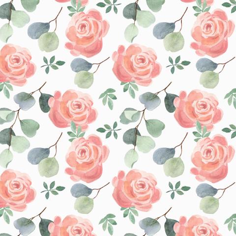 Розы и эвкалипт
