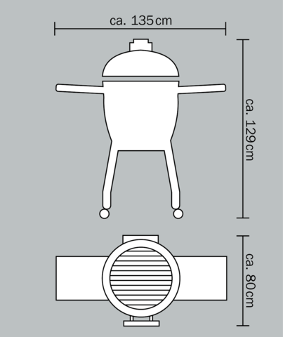 Керамический гриль Monolith Le Chef PRO очень большой на колёсиках (черный)