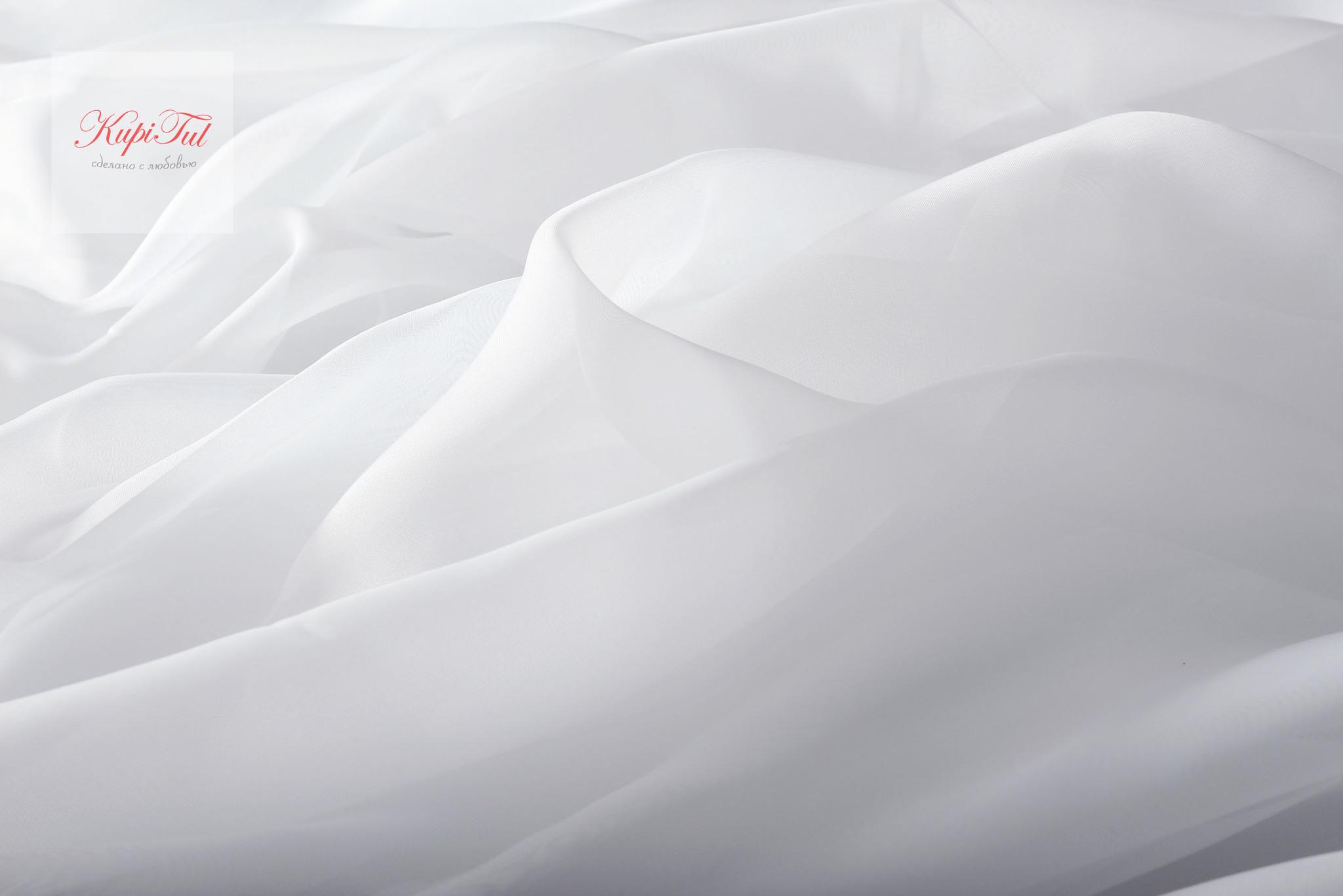 Комплект штор блэкаут (графит) и вуаль (белый)