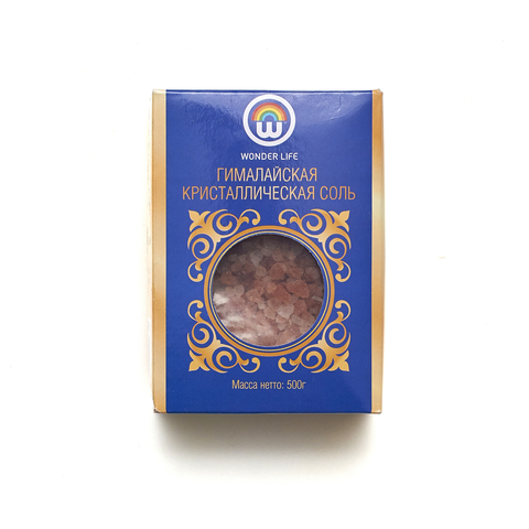 Соль гималайская розовая помол 2 - 5 мм, 500 гр.