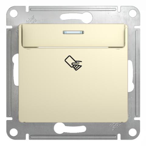 Карточный выключатель. Цвет Бежевый. Schneider Electric Glossa. GSL000269