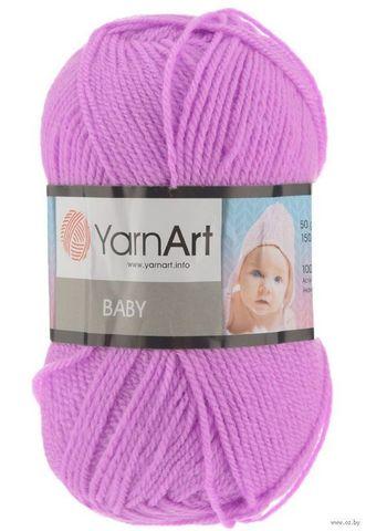 Пряжа YARNART BABY № 635 розовая сирень