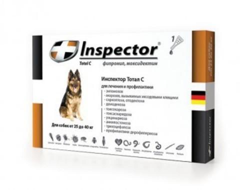 Инспектор для собак от 25кг до 40кг(1 пипетка)