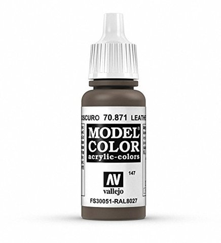 Model Color Leather Brown 17 ml.
