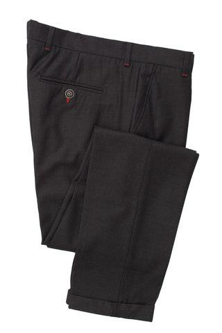 Классические брюки зауженного кроя из смеси шерсти и вискозы