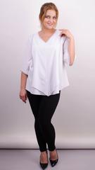 Марина. Весенняя блуза size plus. Белый.