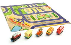 Игровой набор с 5 паровозами и картой (Чаггингтон, LC54502 Die-Cast)