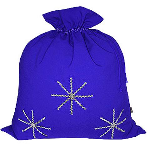 Синий мешок со снежинками
