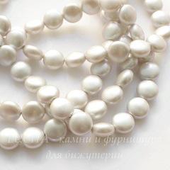 5860 Хрустальный жемчуг Сваровски Crystal Iridescent Dove Grey круглый плоский 10 мм