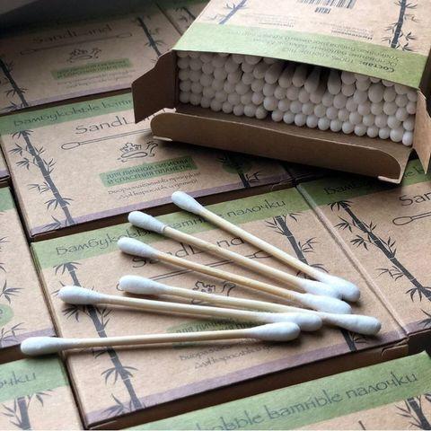 Бамбуковые ватные палочки (100 шт.)