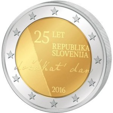 2 Евро 2016 - 25 лет независимости Словении