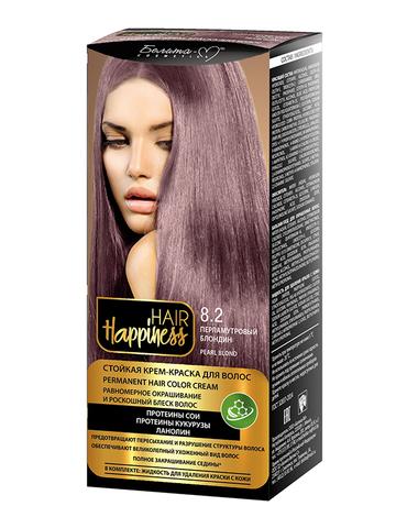 Белита-М Hair Happiness Крем-краска для волос аммиачная №8.2 перламутровый блондин