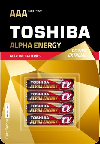 Батарейки Toshiba Alpha Energy Alkaline LR03, AAA (2/20) блистер