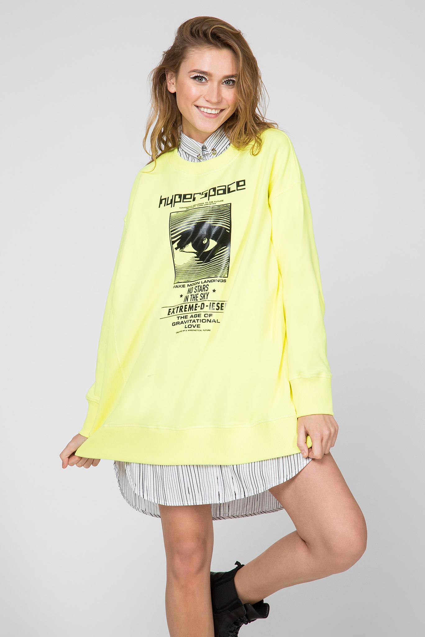 Женский желтый свитшот F-AKUA Diesel