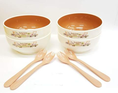 Детская посуда  набор тарелок с ложечками