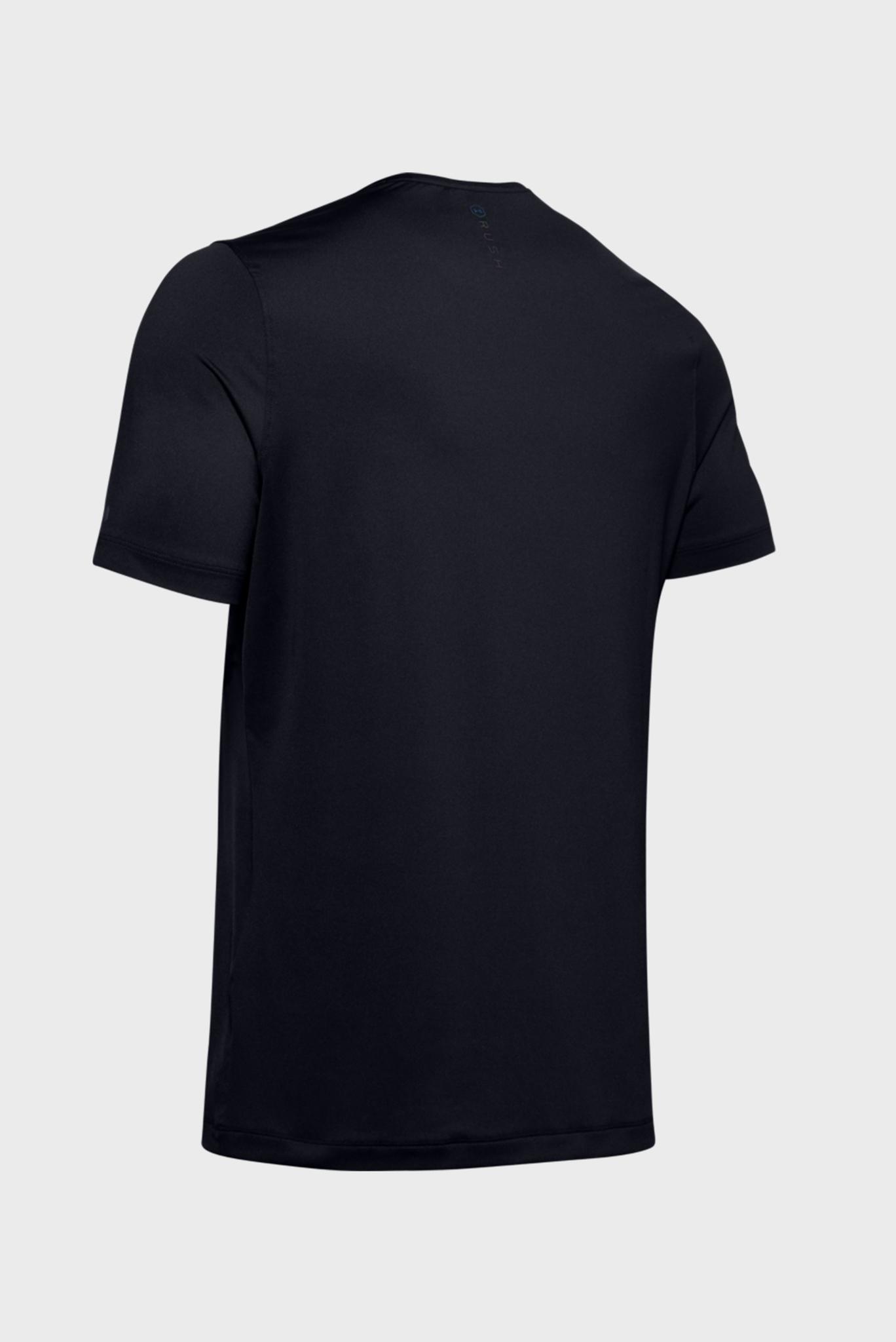 Мужская черная футболка UA HG Rush Fitted SS Under Armour
