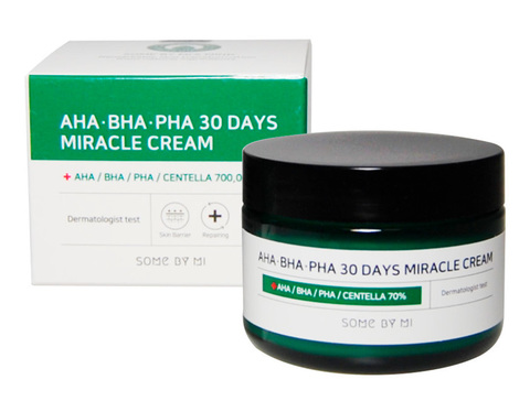Восстанавливающий крем для проблемной кожи SOME BY MI AHA.BHA.PHA 30 Days Miracle Cream