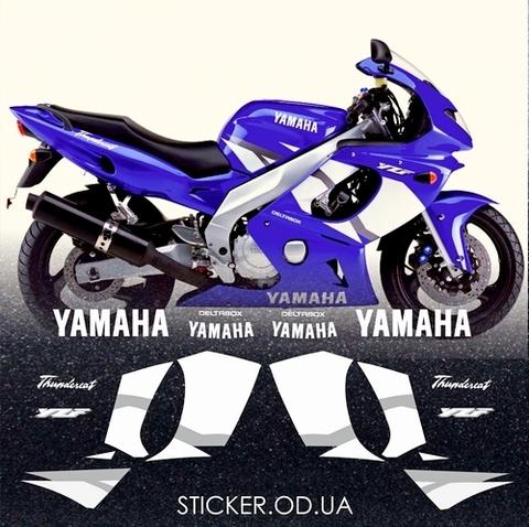 Набор виниловых наклеек на мотоцикл YAMAHA YZF 600R 2003, Thundercat