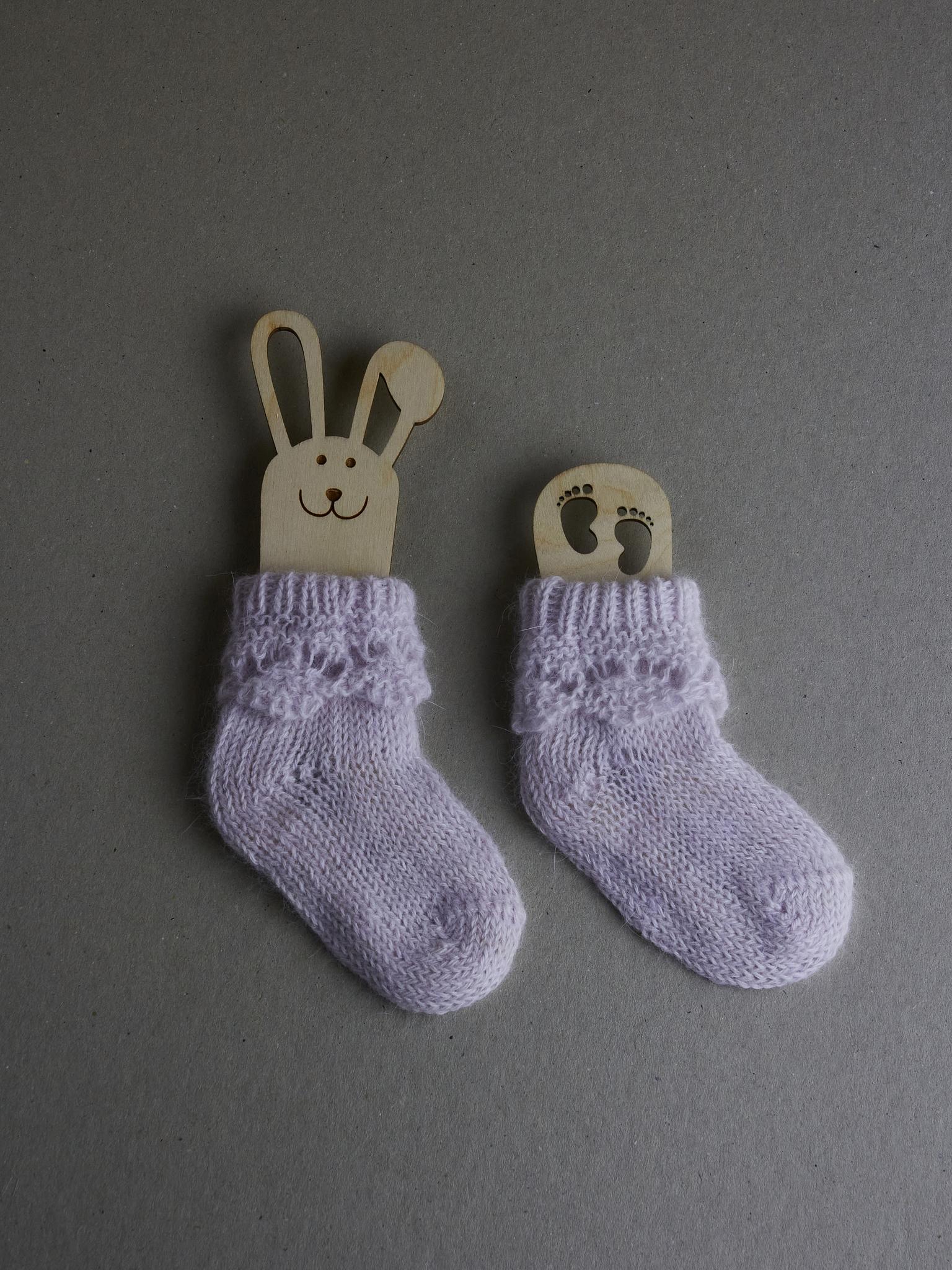 Вязаные носочки для новорожденных младенцев