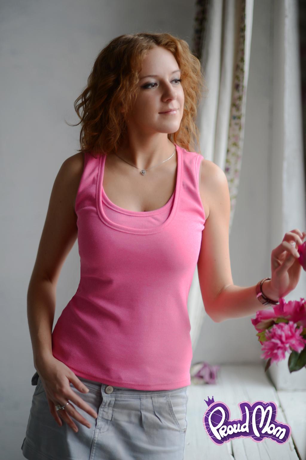 Майка для кормящих Легкость бытия розовая