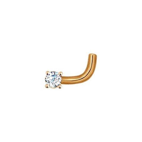 Пирсинг для носа из золота с бриллиантом
