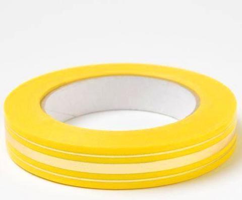Лента золотая полоса BL (размер: 2 см х 50 ярдов) Цвет: лимонный