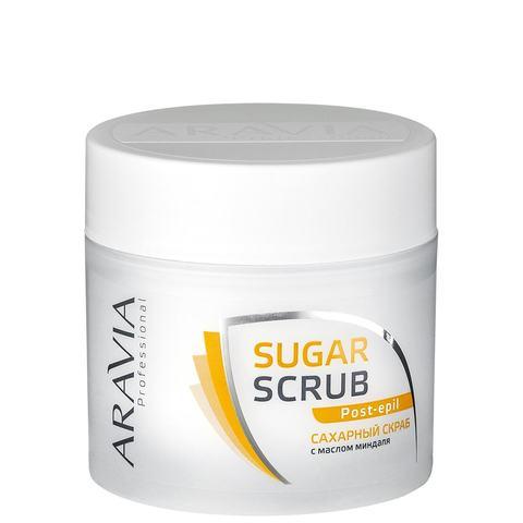 Скраб сахарный для тела с маслом миндаля 300мл Аравия