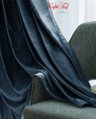 Шторы бархат Luxe (темно-бирюзовый).