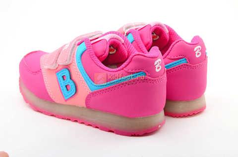 Светящиеся кроссовки Бебексия (BEIBEIXIA) для девочек, цвет розовый, светится вся подошва. Изображение 7 из 10.