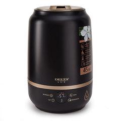 Увлажнитель воздуха ультразвуковой 25 Вт, 5 л, с керамическим фильтром Арома DELTA LUX DE-3701 черный с золотым