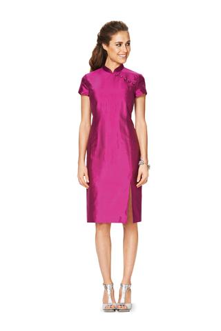 Выкройка Burda (Бурда) 6830 — Платье прямое с разрезом
