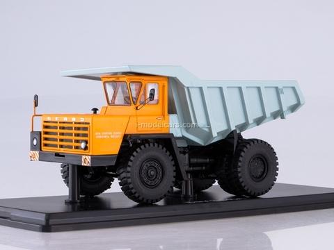 BELAZ-540A dumper orange-light-blue 1:43 Start Scale Models (SSM)