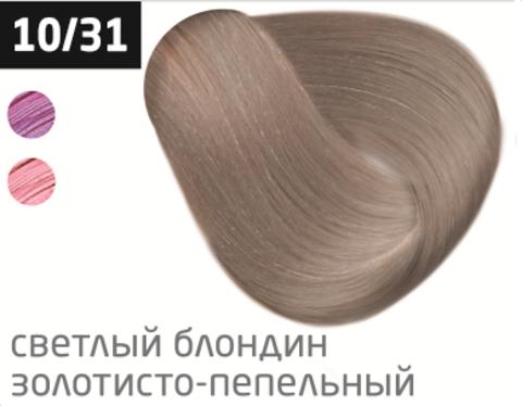 OLLIN color 10/31 светлый блондин золотисто-пепельный 100мл перманентная крем-краска для волос