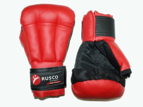 Перчатки для рукопашного боя RUSCOsport, красные, 8 Oz: к-8