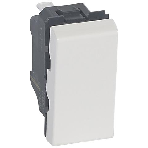 Выключатель без фиксации 6 A - 1 модуль - антибактериальный. Цвет Белый. Legrand Mosaic (Легранд Мозаик). 078714