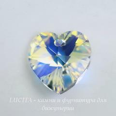 6228 Подвеска Сваровски Сердечко Crystal AB (14,4х14 мм)