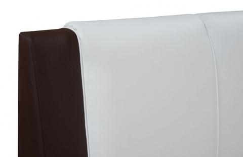 Экокожа: коричнево-белая