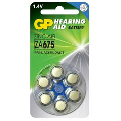 Батарейки для слуховых аппаратов GP ZA675-D6