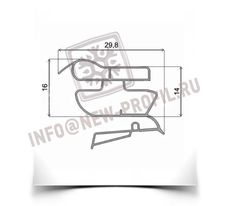 Уплотнитель  101*57 см для холодильника Индезит C238G (холодильная камера) Профиль 022