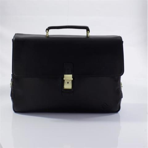 Кожаный портфель коричневый Fidelio Largo 023 brown FL